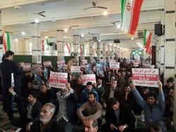 تجمع با شکوه ۹ دی در مسجد جامع کرمانشاه برگزار شد