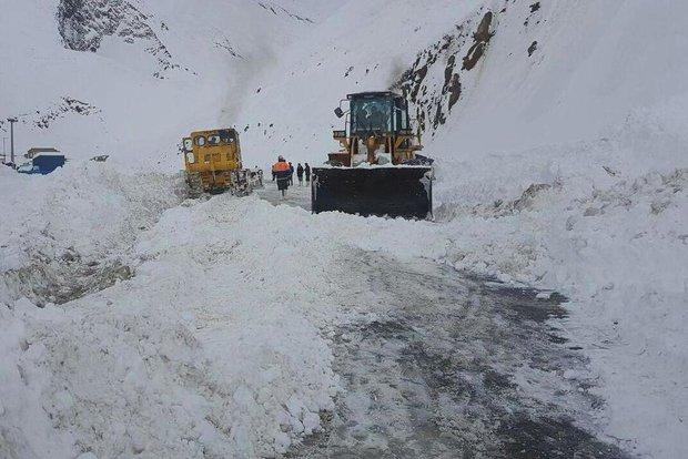 کراپشده - کراپشده - بارش برف در جاده چالوس
