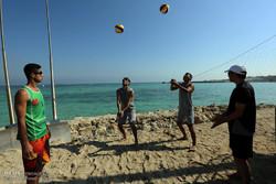 اردوی مشترک تیم های ملی والیبال ساحلی ایران و تاجیکستان در جزیره کیش