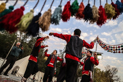 PHOTO: Iranian nomads perform a traditional dance at Tehran's Bahman Cultural Center on 28, December 2016.