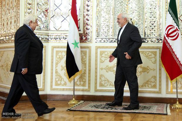 Zarif ve Suriyeli mevkidaşı görüşmesi