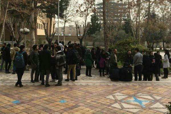 اعتراض دانشجویان دانشگاه تربیت مدرس به شهریه دروس جبرانی