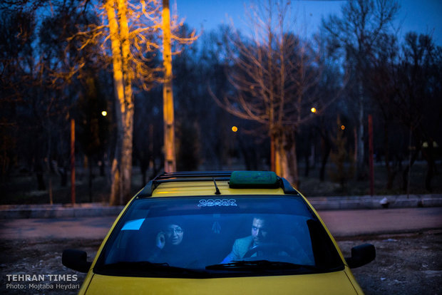 Hosseini and her husband, who is always accompanying her with his taxi, are asking for the address of one of her trainees.