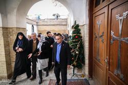 بازدید وزیر تعاون، کار و رفاه اجتماعی از کلیسای گئورگ مقدس به مناسبت آغاز سال نو میلادی