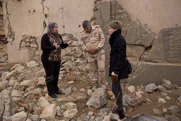 ویرانه های شهر نمرود پس از خروج داعش