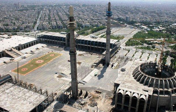 پیشرفت ۶۷ درصدی قسمت مرکزی مصلای امام خمینی(ره)