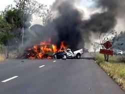 تیز رفتار کار درخت سے ٹکرانے 4 افراد ہلاک