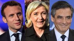 Emmanuel Macron, Marine Le Pen,François Fillon