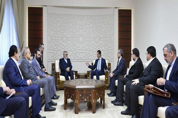 الرئيس الأسد يثني على الدّور الإيراني في الانتصارات السّوريّة