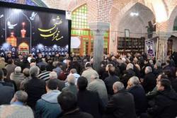 مراسم اربعین ۴۸ زائر آسمانی حریم رضوی در تبریز برگزار شد