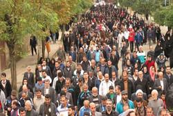 همایش پیاده روی خانوادگی در پارک بزرگ شهر یزد برگزار شد