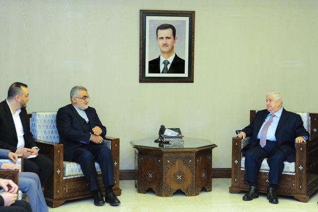 Al-Muallem, Boroujerdi discuss Aleppo ceasefire