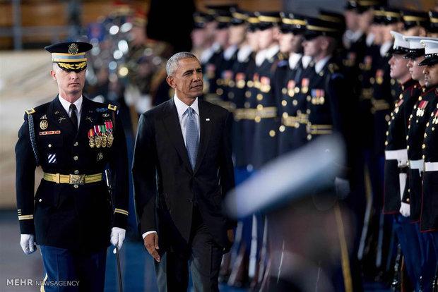 وداع اوباما با نیروهای مسلح آمریکا