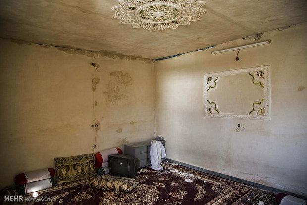أضرار الهزة الأرضية في بلدة خنج جنوب محافظة فارس
