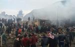مشاهد من التفجير الإرهابي في مدينة إعزاز السورية /فيلم