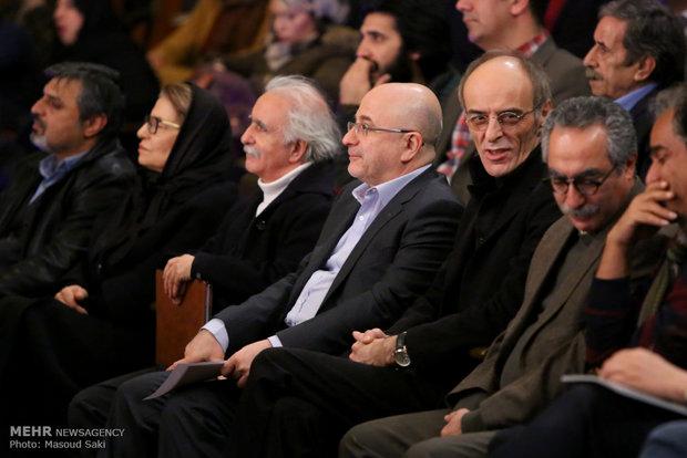 حضور علی مرادخانی، معاون هنری وزیر ارشاد در آیین اختتامیه دومین جایزه محمود استادمحمد