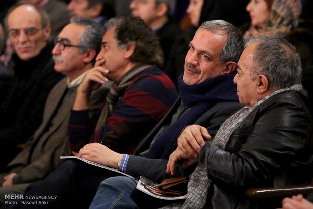 حضور احمد مسجدجامعی، عضو شورای شهر تهران در آیین اختتامیه دومین جایزه محمود استادمحمد