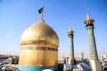 حضرت معصومہ سلام اللہ علیھا کے حرم میں پرچم بدلنے کی تقریب