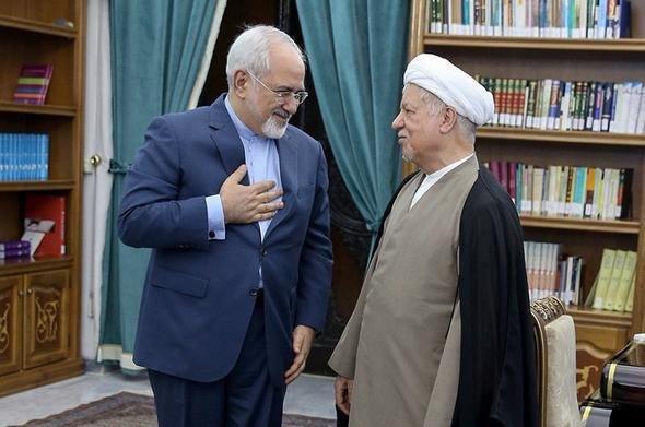 Zarif condoles demise of Ayat. Hashemi Rafsanjani