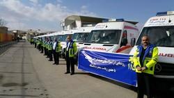 رونمایی از آمبولانس های اورژانس کرمانشاه