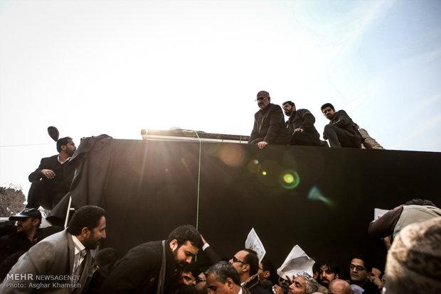 شوارع طهران في مراسم تشييع الراحل آية الله هاشمي رفسنجاني