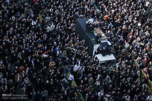 انتهاء مراسم تشييع ودفن آية الله هاشمي رفسنجاني