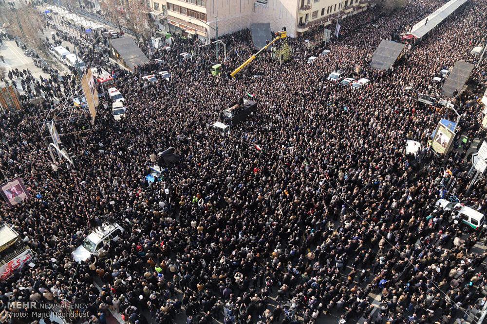 مراسم تشییع و تدفین پیکر مرحوم آیتالله هاشمی رفسنجانی -۱