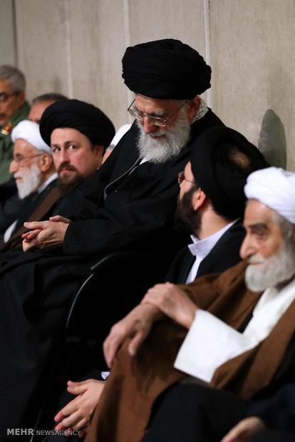 Mourning ceremony for Ayat. Rafsanjani