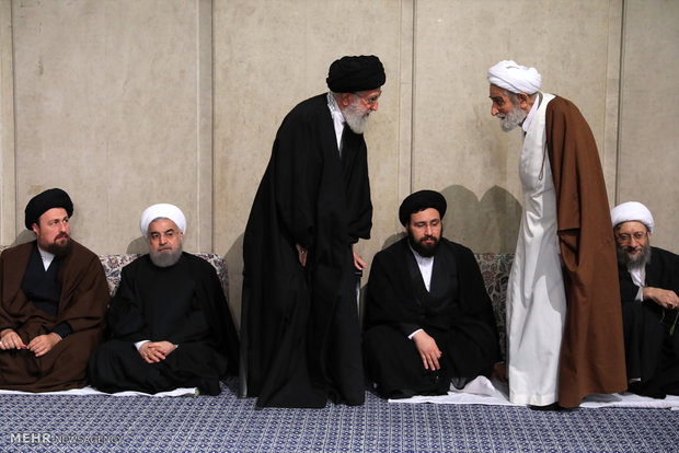 Mourning ceremony for Ayat. Rafsanjani