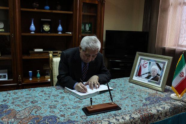 Kazakhstan holds tribute ceremony for Ayat. Rafsanjani