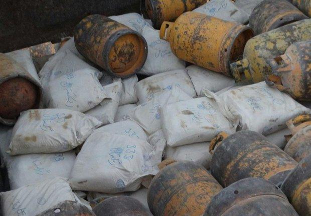 کشف ۱۲۰۰ کیلوگرم مواد مخدر از کامیون حامل کپسول گاز