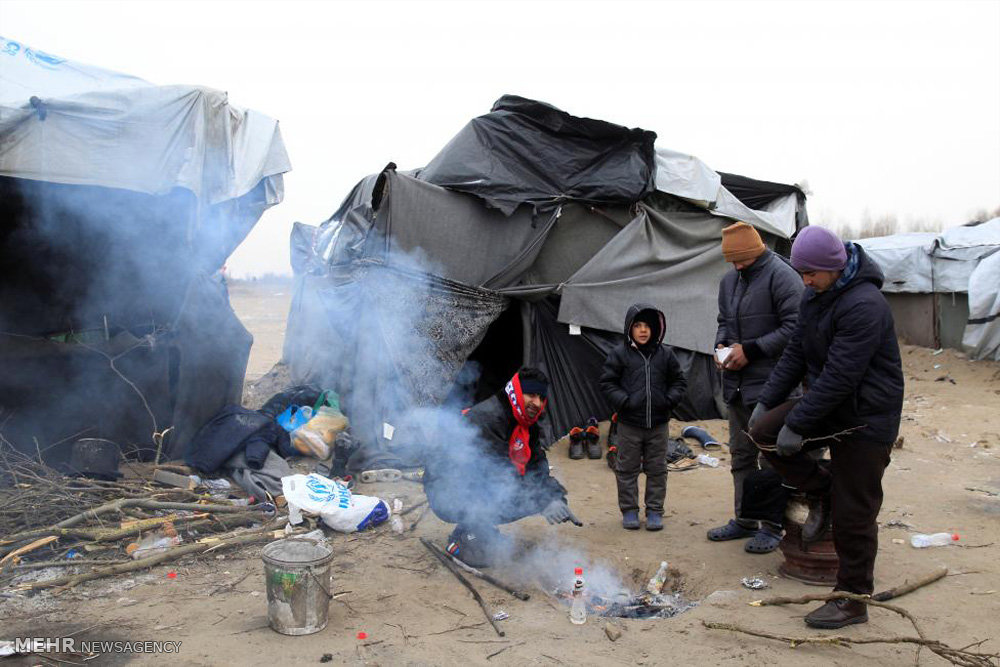 وضعیت اسفبار پناهجویان در سرمای اروپا