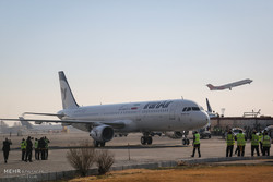 First Airbus lands in Tehran's Mehrabad Airport
