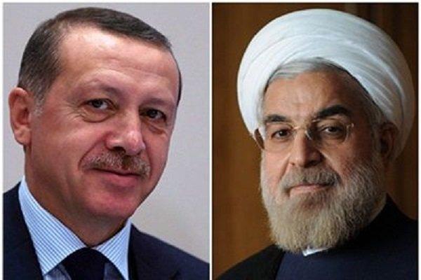 اردوغان يؤكد عزم انقرة على تعزيز العلاقات مع طهران على شتى الاصعدة
