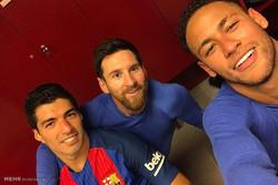 دیدار تیم های فوتبال بارسلونا و اتلتیک بیلبائو