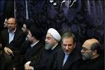 رئیس جمهور در مراسم هفتمین روز ارتحال آیت الله هاشمی حضور یافت