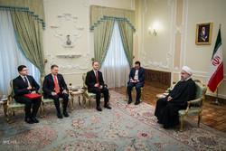 دیدار وزیر امور خارجه آلبانی با حجت الاسلام حسن روحانی رییس جمهور