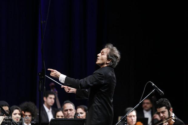 Tehran Symphonic Orchestra performs at Fajr fest.