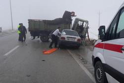 تصادف مرگبار در محور ساوه-همدان ۴کشته و ۵مجروح برجای گذاشت