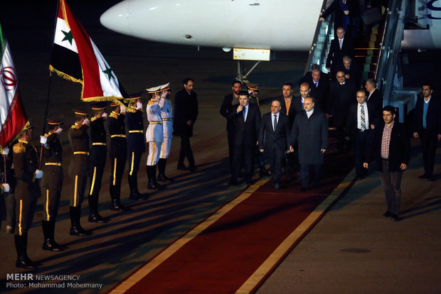 Official welcoming ceremony of Syrian PM