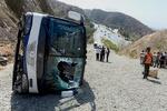 واژگونی یک دستگاه اتوبوس در محور رفسنجان - کرمان/۶ نفر جان باختند