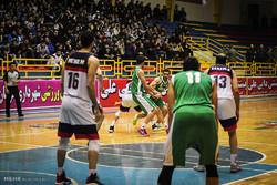دیدار تیم های بسکتبال شهرداری گرگان و لوله آ اس شیراز