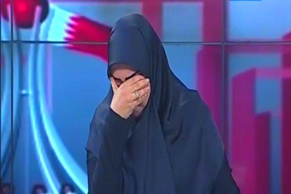فیلم/اشکهای مجری و میهمان «العالم» در برنامه «حدیث البحرین»