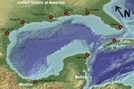آمریکا، مکزیک و کوبا شرق خلیج مکزیک را تقسیم می کنند