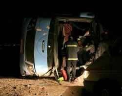 توضیحاتی پیرامون ابهام در آمار مجروحان حادثه واژگونی اتوبوس در رفسنجان