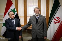 دیدار عماد خمیس نخست وزیر سوریه با علی لاریجانی رییس مجلس شورای اسلامی