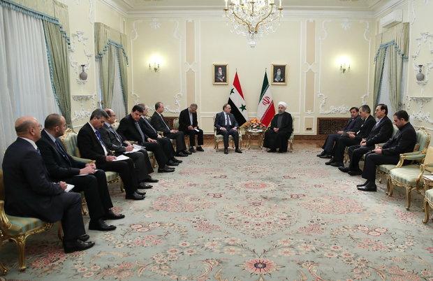 روحانی در دیدار نخست وزیر سوریه: آزادسازی حلب و برقراری آتشبس دو گام مهم برای صلح در سوریه است