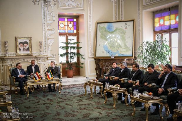 Larijani, Syrian PM meet