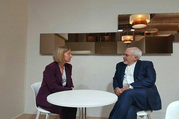 Zarif meets Mogherini, Scandinavian FMs