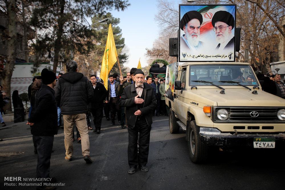 تشییع شهید مدافع حرم شهید صفدرعلی قربانی